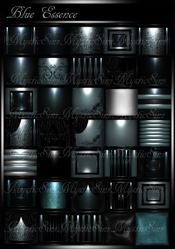 IMVU Blue Essence Room Collection