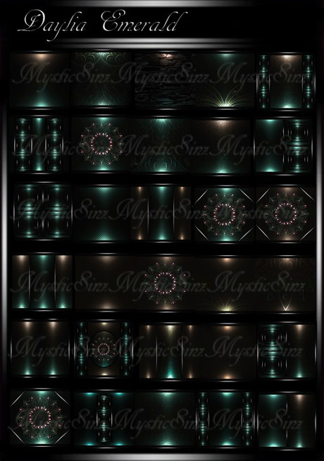 Daylia Emerald IMVU Room Texture Collection