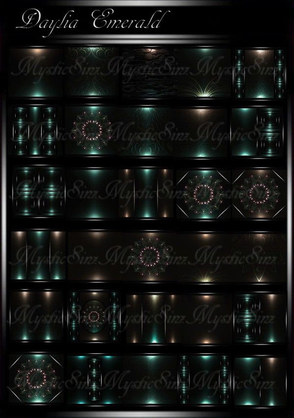 Daylia Emerald IMVU Room Texture Collection