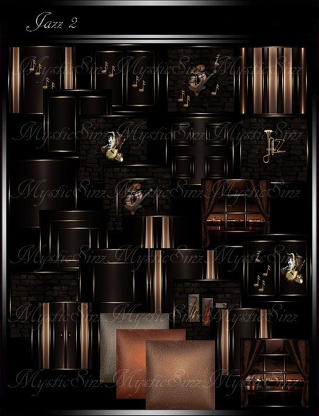 IMVU Textures Jazz 2 Room Collection