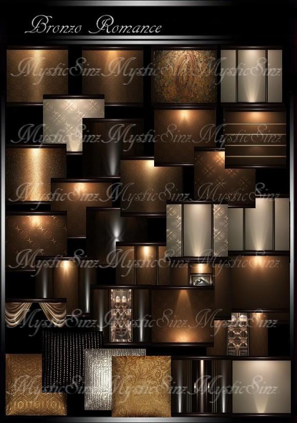 IMVU Bronzo Romance Room Collection