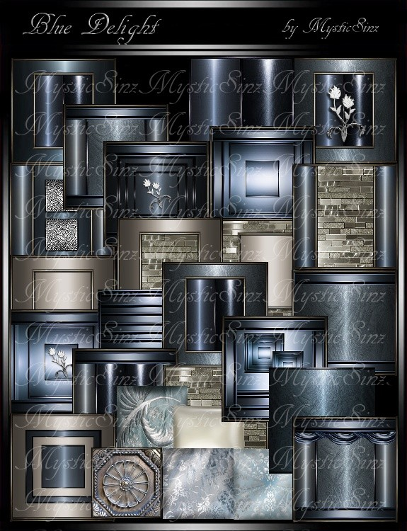 IMVU Textures Blue Delight Room Collection