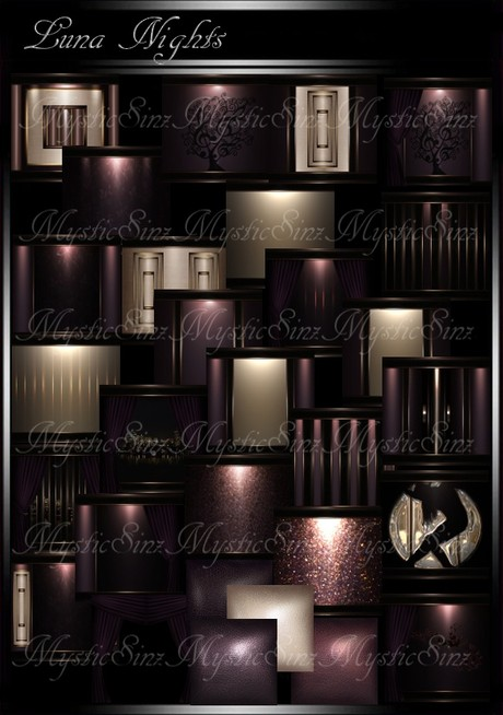 IMVU Luna Night Room Collection