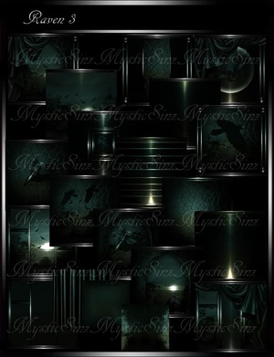 IMVU Textures Raven 3 Room Collection