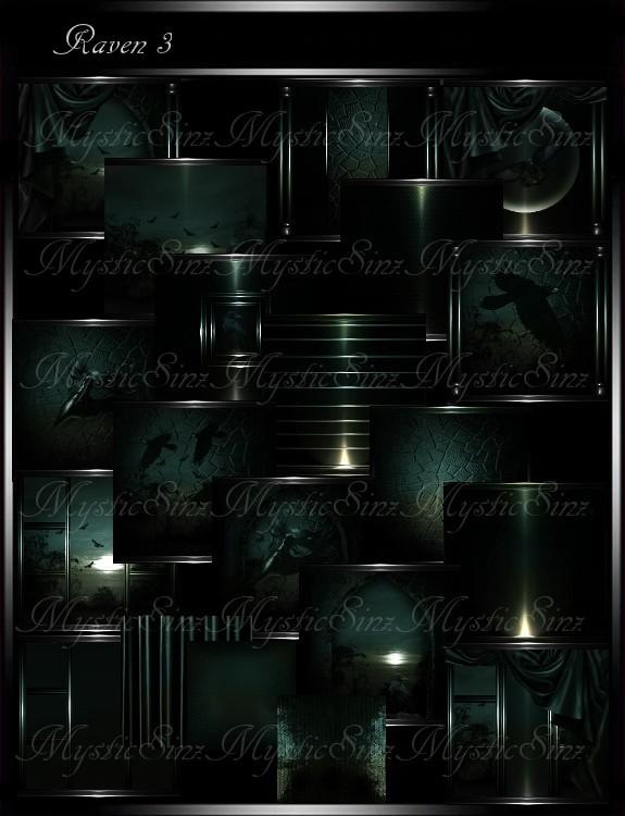 IMVU Textures Raven 3 Room Collection
