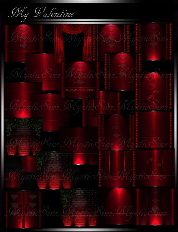 IMVU Textures My Valentine Room Collection