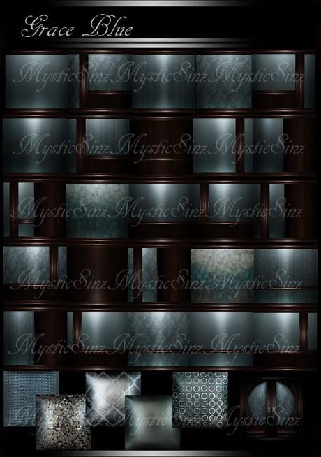 IMVU Grace Blue Room Collection