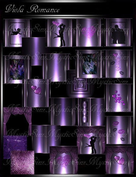 IMVU Textures Viola Romance Room Collection
