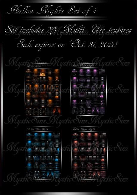 Hallow Nights  IMVU Textures Set of 4 Sale until Oct. 31