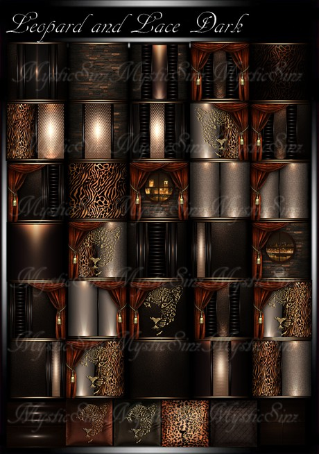 Leopard and Lace Dark IMVU Room Texture Collection