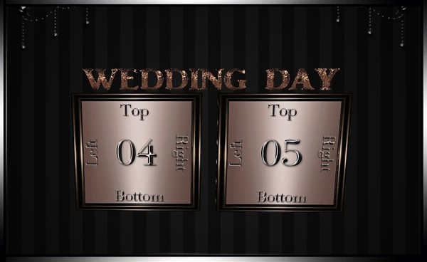 Wedding Day Picture Frames Mesh IMVU