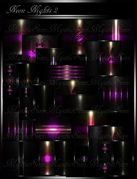 IMVU Textures Neon Nights II Room Collection