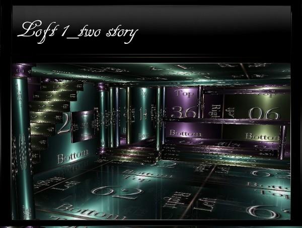Loft1_Two-Story IMVU Mesh