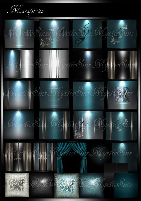 IMVU Textures Mariposa Room Collection
