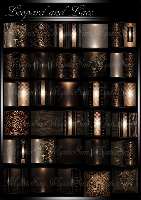 Leopard and Lace IMVU Room Texture Collection