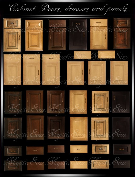 Cabinet doors, drawer and panel textures IMVU