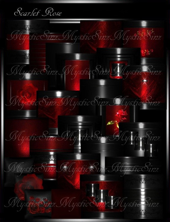 Scarlet Rose Room Collection