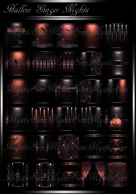Hallow Ginger Nights IMVU Room Texture Collection