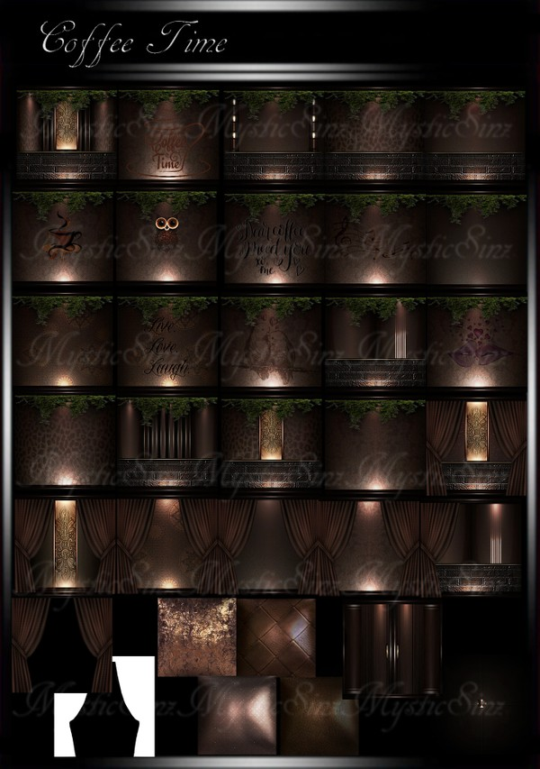 Coffee Time IMVU Room Texture Collection