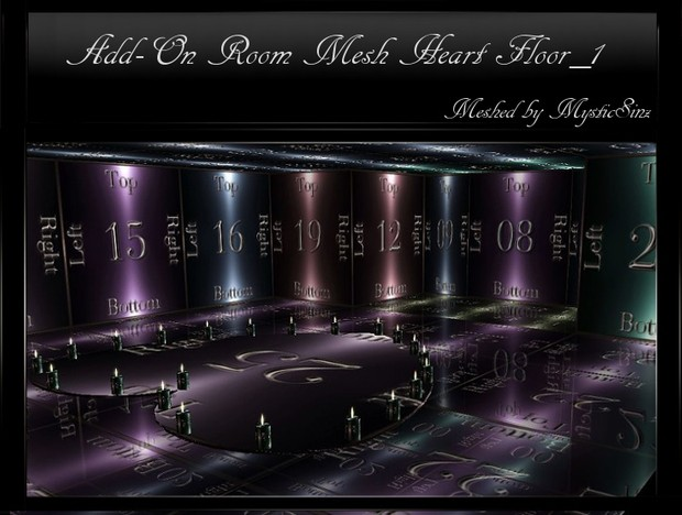 IMVU Add On Room Mesh Heart Floor