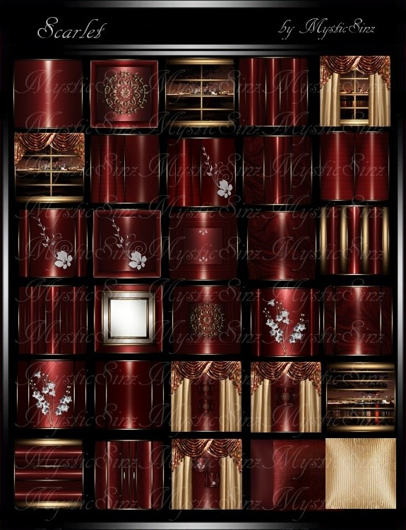 IMVU Textures Scarlet Room Collection