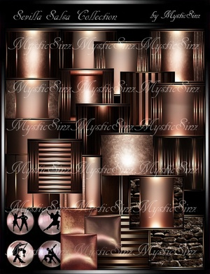 IMVU Textures Sevilla Salsa Room Collection