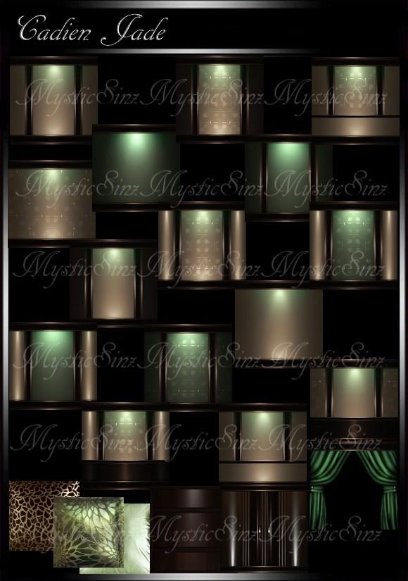 IMVU Cadien Jade Room Collection