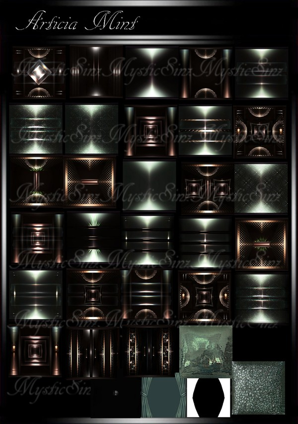 Articia Mint Room Collection IMVU