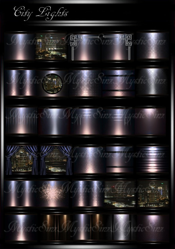 City Lights IMVU Room Texture Collection