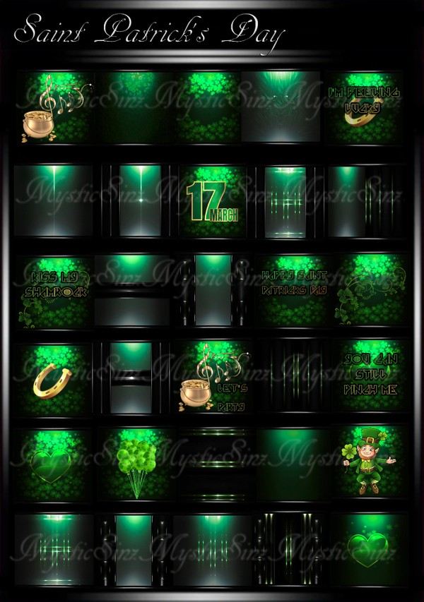 Saint Patrick's IMVU Room Texture Collection