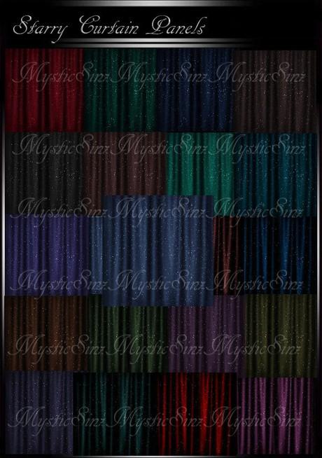 IMVU Starry Curtain Panel Textures