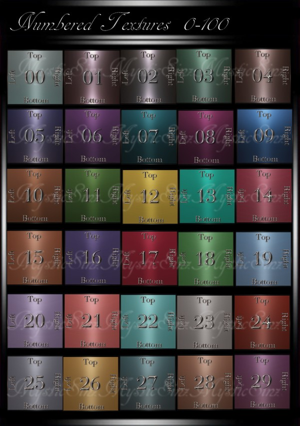 Numbered Textures Pk_4