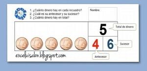Generador de ejercicios con imágenes (Euros) para numeración.