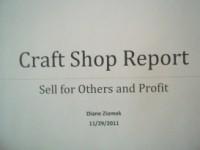 Craft Shop Report