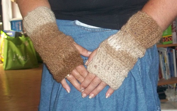 Crocheted Wrist Warmer Pattern