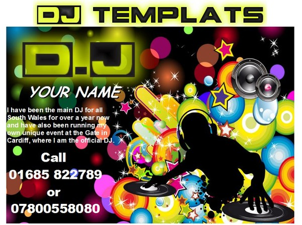 DJ Business card templates