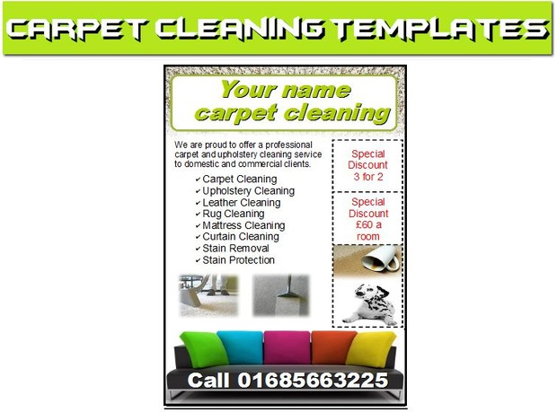 Carpet Cleaning Leafletsflyerbusiness Cards Business Kevin