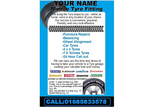 start a mobile tyre fitting Business