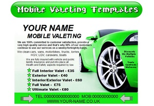 mobile valeting flyers,leaflet,business cards Business Templates forms