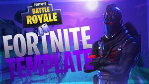 Night Fortnite Battle Royale Thumbnail Template