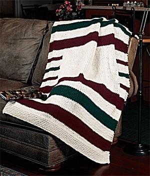 Knitted Hudson Bay Blanket
