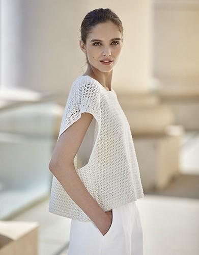 Oversized Crochet Top