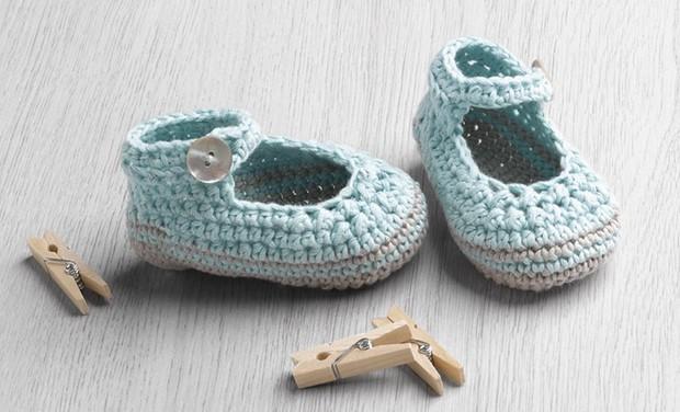 Crochet Cotton Booties
