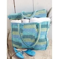 Cotton Stripes Beach Bag