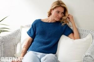 Textured Tee Pullover