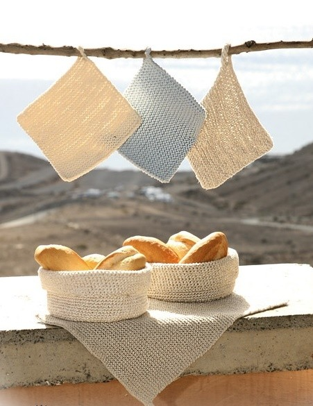 Bread Basket, Towel & Potholder