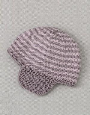 Striped Helmet Hat