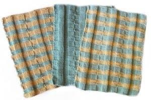 Lotus Basketweave Dishcloth