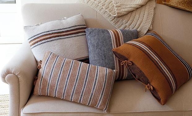 White Striped Cushion