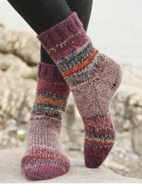 Painted Bueberry Hill Socks